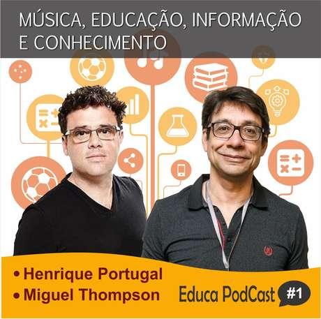 Henrique Portugal e Miguel Thompson são convidados do episódio de estreia do Educa Podcast