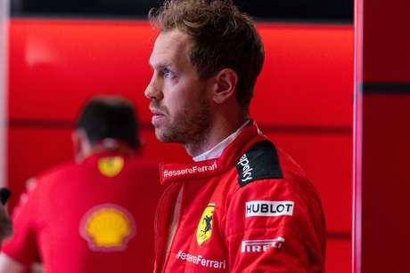 Sebastian Vettel no fim de semana do GP da Itália de Fórmula 1