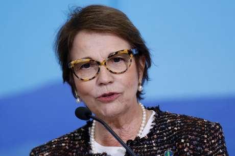 Ministra Tereza Cristina em evento no Planalto  17/6/2020 REUTERS/Adriano Machado