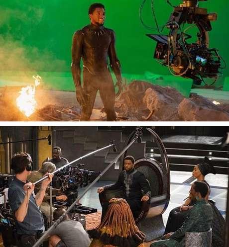 O ator nos sets de 'Vingadores: Ultimato' e 'Pantera Negra': a continuação do blockbuster renderia a ele um salário de astro do primeiro time de Hollywood