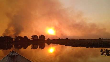 Fumaça se tornou parte do cenário do Pantanal nos últimos meses