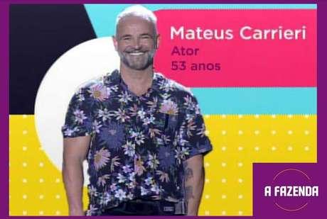 Mateus Carrierié um dosparticipantesde'A Fazenda 12'em2020.