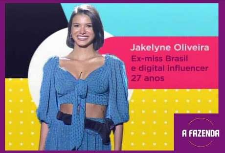 Jakelyne Oliveira é uma dasparticipantesde'A Fazenda 12'em2020.