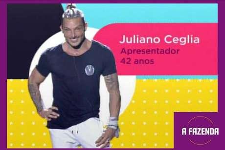 Juliano Cegliaé um dosparticipantesde'A Fazenda 12'em2020.