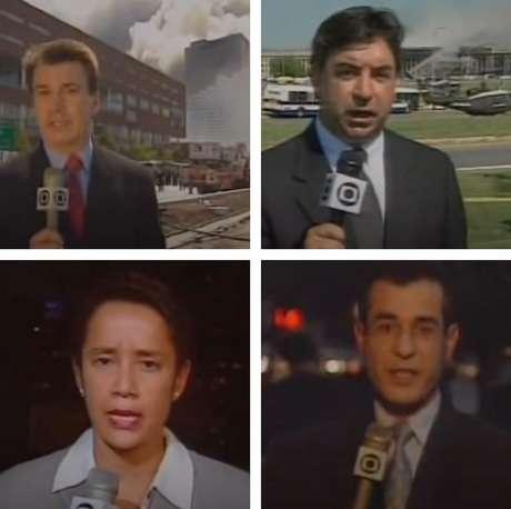 Edney Silvestre, Luís Fernando Silva Pinto, Zileide Silva e Arnaldo Duran: repórteres no epicentro da notícia