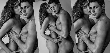 Cauã e Mariana compartilharam a foto feita por Mario Testino e receberam incontáveis elogios