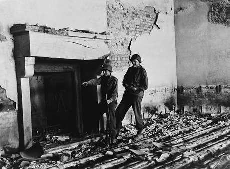 Berghof ficou em ruínas após os bombardeios no fim da Segunda Guerra