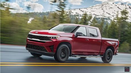 Projeção da picape da Kia Motors: carroceria sobre chassi para enfrentar Toyota Hilux e Ford Ranger.