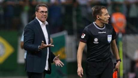Luxemburgo com o Palmeiras na Libertadores (César Greco/Palmeiras)