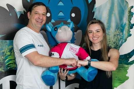 Aristóteles 'Toti' Azevedo, CEO da Falkol e Marina Leite, CEO da Prodigy (Foto: Divulgação/Falkol Prodigy)