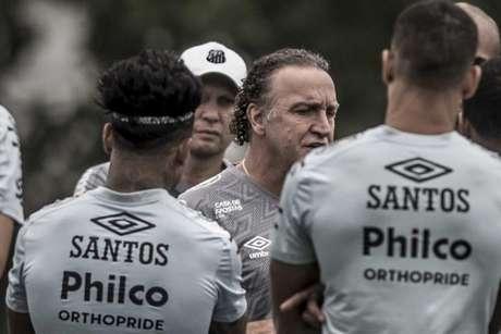 O Santos realizou o último treino antes de encarar o Olimpia na Vila Belmiro (Foto:Ivan Storti/Santos FC)
