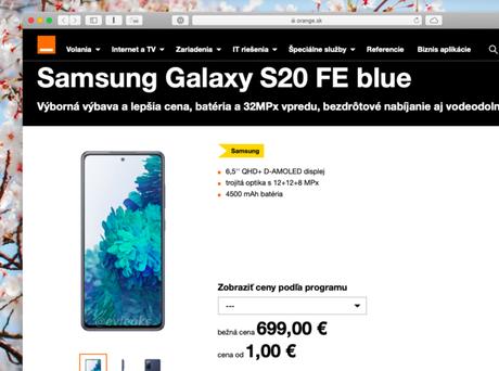 Samsung Galaxy S20 Fan Edition aparece em site de operadora eslovaca Orange antes do lançamento