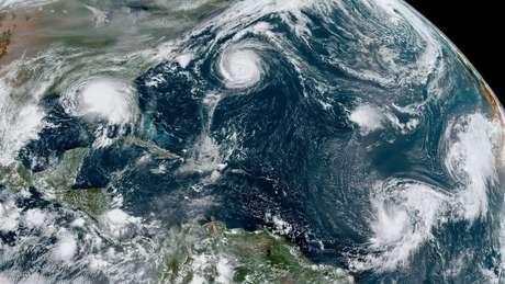Desde 1971 não eram registrados cinco ciclones tropicais ativos ao mesmo tempo