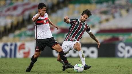 Fluminense e Atlético-GO empataram há duas semanas (Foto: Lucas Merçon/Fluminense FC)