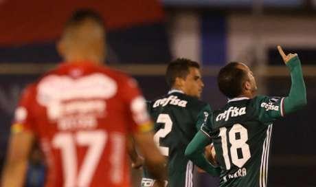 Guerra foi o único palmeirense a fazer gol na derrota de Cochabamba (Foto: Divulgação/Palmeiras)