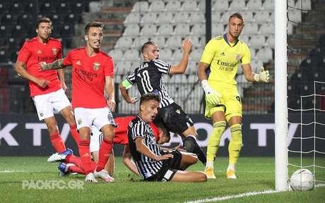 PAOK conseguiu vencer o Benfica por 2 a 1 na Grécia (Foto: Divulgação/PAOK)