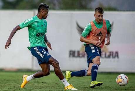 Recuperado, Bruno Henrique está novamente à disposição de Domènec Torrent (Foto: Marcelo Cortes / Flamengo)