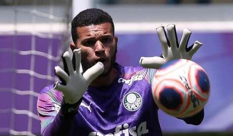 Arqueiro chegou a treinar com o elenco profissional em 2020 (Foto: Divulgação/Palmeiras)