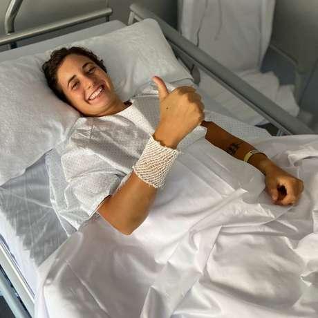 Carrasco internada após o acidente em Estoril