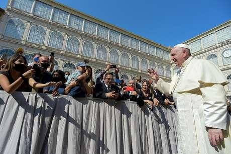 Papa Francisco durante audiência geral semanal no Vaticano 16/09/2020 Vatican Media/Divulgação via REUTERS