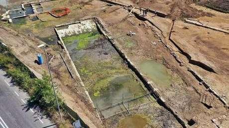 'Piscina' foi encontrada em área próxima a Roma por arqueólogos italianos