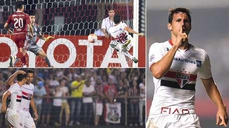 River visitou o Morumbi duas vezes pela Libertadores e perdeu as duas, a última em 2016 (Fotos: AFP/LANCE!Press)