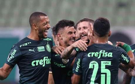 Palmeiras em ação no Allianz Parque (Foto: Cesar Greco/Palmeiras)