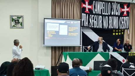 Alexandre Campello falou para apoiadores e membros da diretoria que preside (Reprodução)