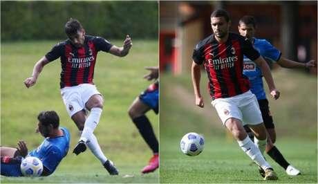 Paquetá e Léo Duarte ganharam minutos na pré-temporada (Foto: Divulgação / Site oficial do Milan)