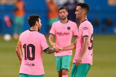 Messi marcou dois gols no amistoso (Foto: Josep LAGO / AFP)