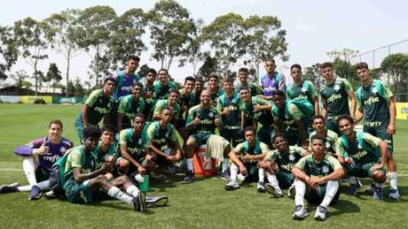 Será que os garotos da base curtiram treinar com o 'Pitbull' do Verdão? (Foto: Fábio Menotti/Palmeiras)