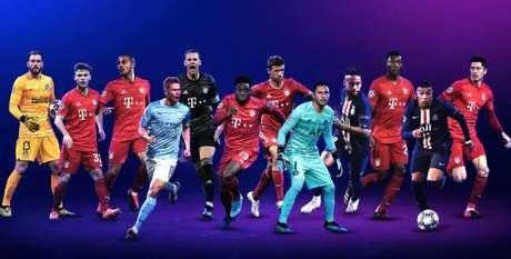Uefa divulgou lista com 12 finalistas