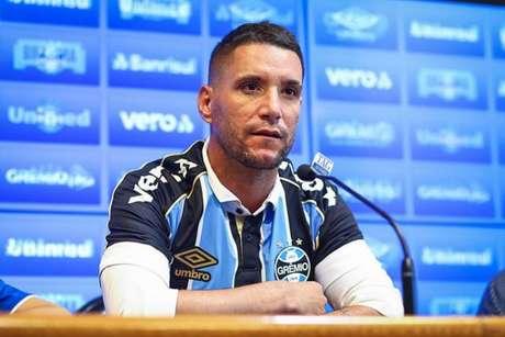 Thiago Neves teve uma rápida passagem pelo Grêmio em 2020 (Foto: Lucas Uebel/Grêmio FBPA)