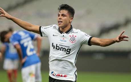 O estreante Roni foi o autor do segundo gol do Corinthians sobre o Bahia (Foto: Rodrigo Coca/Ag. Corinthians)