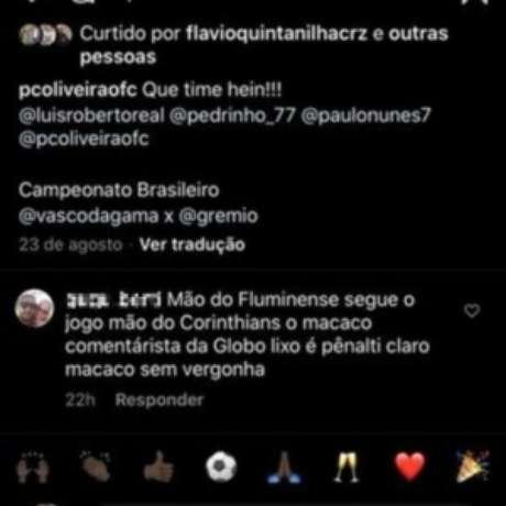 Paulo César Oliveira vítima de comentário racista no Instagram (Foto: Reprodução)