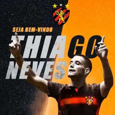 Thiago Neves é a nova contratação do Sport (Foto: Divulgação/Sport)