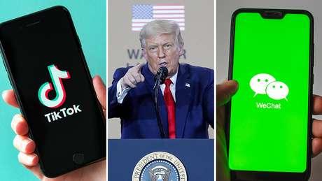 O presidente Donald Trump proibiu os aplicativos no país