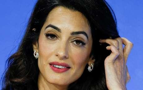 Amal Clooney em evento em Londres 10/7/2019 REUTERS/Peter Nicholls
