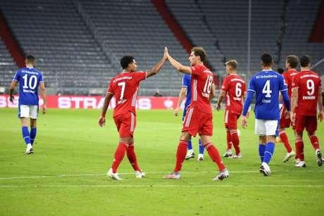 Gnabry marcou um hat-trick na vitória do Bayern - Divulgação / Bayern