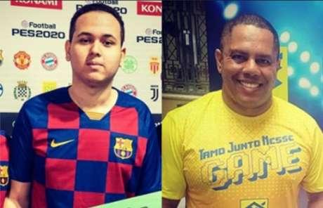 """O atleta Henrykinho (esq.) e seu antigo empresário Wanderson """"Chapoka"""" (Fotos: redes sociais)"""