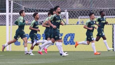 Palmeiras se reapresentou após vitória sobre o Bolívar, na Copa Libertadores (Foto: Cesar Greco/Palmeiras)