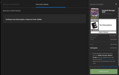 FM 2020 de graça na Epic Games Store
