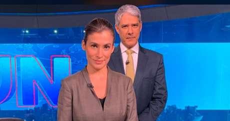 William Bonner e Renata Vasconcellos, do Jornal Nacional: apesar de as novelas faturarem mais, o jornalismo é o produto da TV aberta que mais repercute hoje