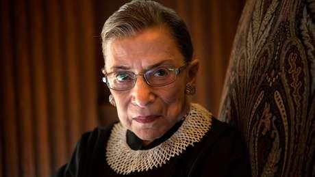 Ruth Bader Ginsburg foi a segunda mulher nomeada à Suprema Corte americana