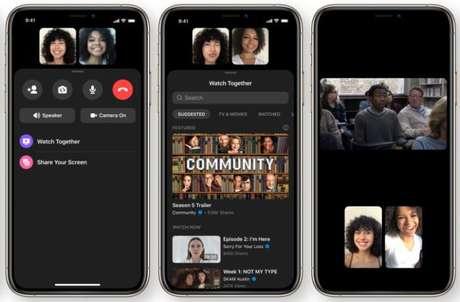 Watch Together no Facebook Messenger para assistir em grupo