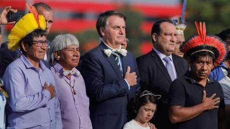Bolsonaro adotou uma postura firme em relação a assuntos indígenas
