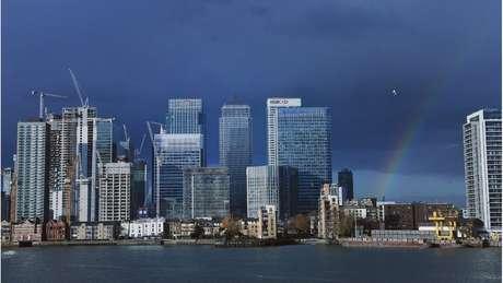 Canary Wharf, bairro onde ficam grande parte das redes bancárias de Londres