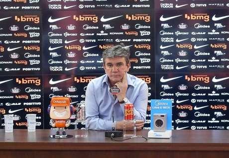 Andrés Sanchez em entrevista coletiva como presidente do Corinthians (Foto: Rodrigo Coca/Ag. Corinthians)