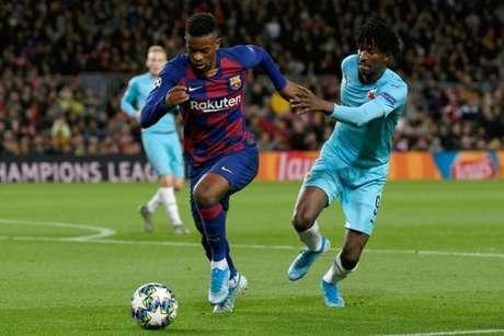 Semedo em ação pelo Barcelona na Liga dos Campeões (Foto: AFP)