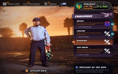 Como desbloquear Officer Dick em Tony Hawk's Pro Skater 1+2